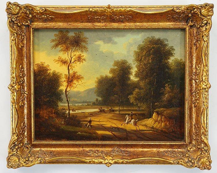 Artist Unknown (British, 19th Century) Stag Hunt. - 2