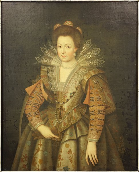British School (17th Century) Portrait of a Noblewoman.