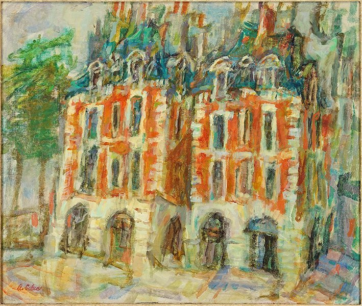 Alfred Cohen (American, 1920-2001) Place Dauphine.