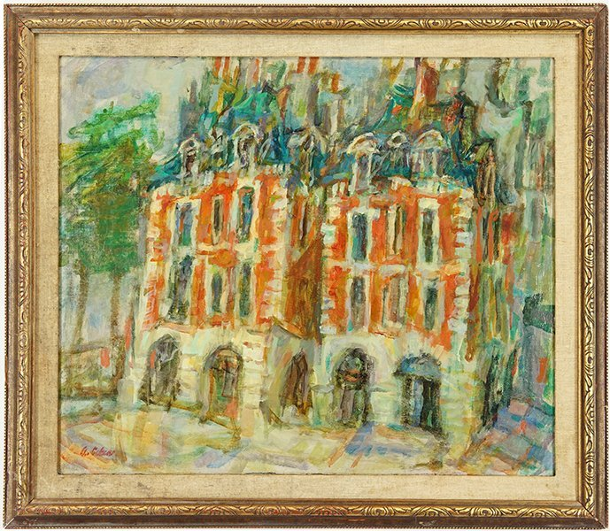 Alfred Cohen (American, 1920-2001) Place Dauphine. - 2