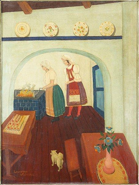 Lawrence Lebduska (American, 1894-1966) Interior Scene