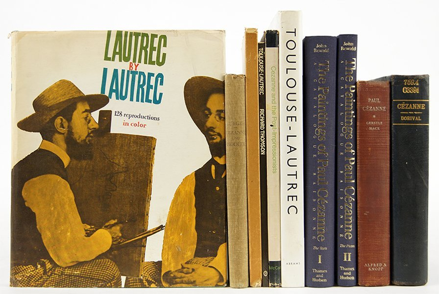 A Collection of Books on Cezanne and Toulouse-Lautrec.