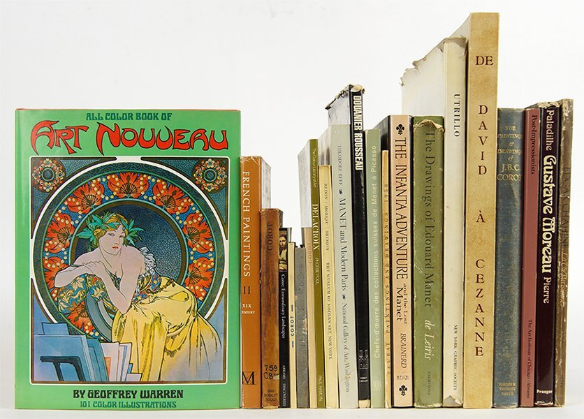 A Collection of Books on 19th Century French Art.