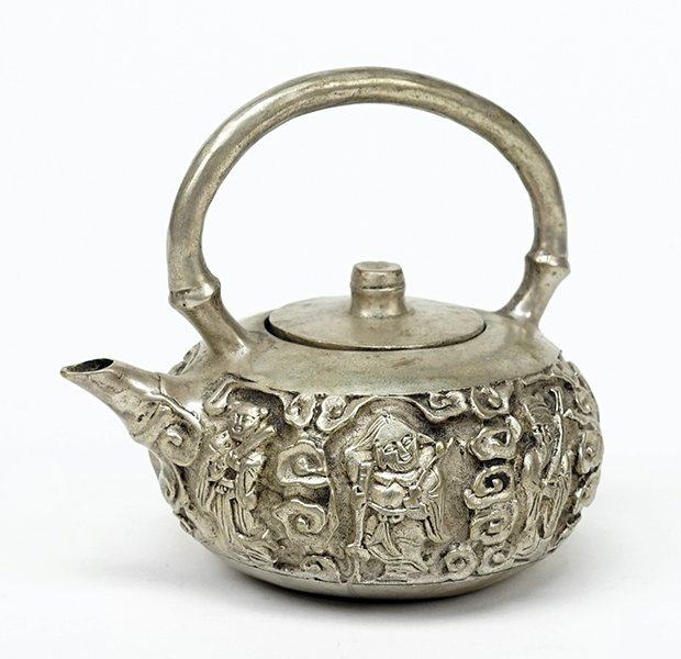 A Chinese Silverplate Teapot.