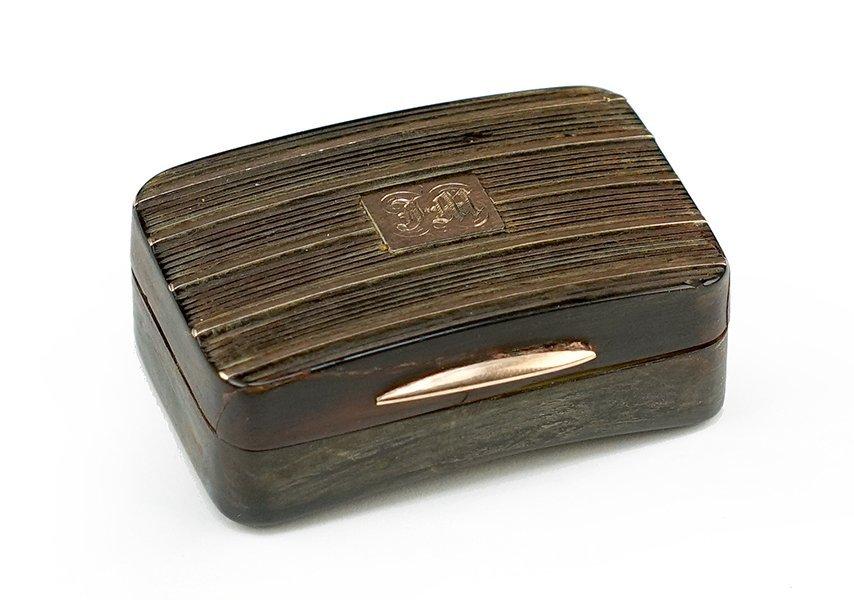 A 19th Century Tortoise Shell Box.