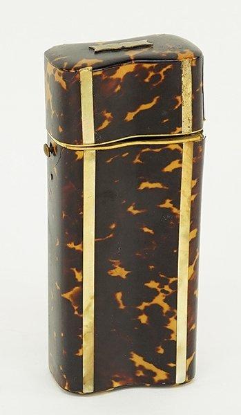 A Victorian Tortoise Shell Cigar Case.