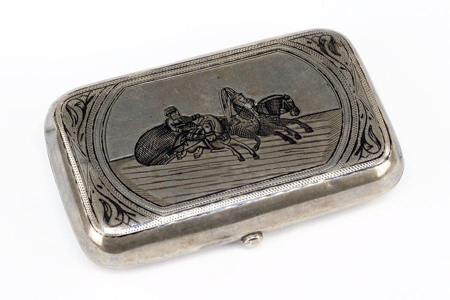 A Russian Silver Cigarette Case.