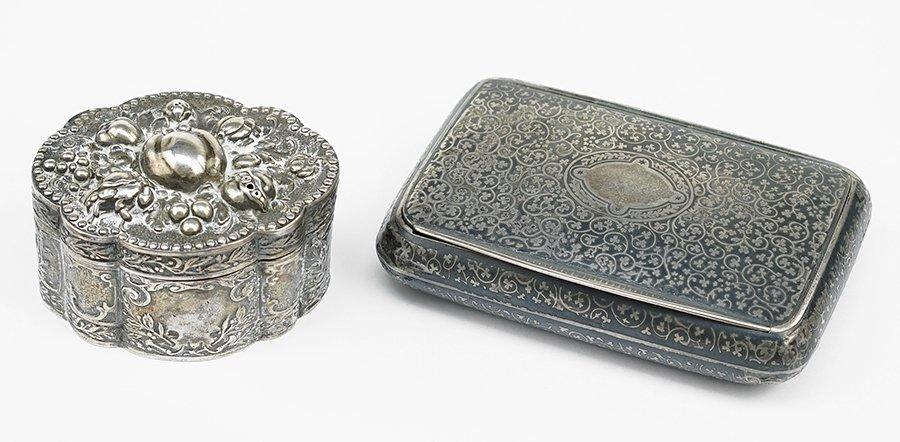 A Viennese .900 Silver Box.
