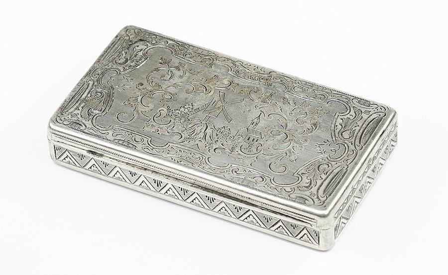 A Viennese .900 Silver Snuff Box.