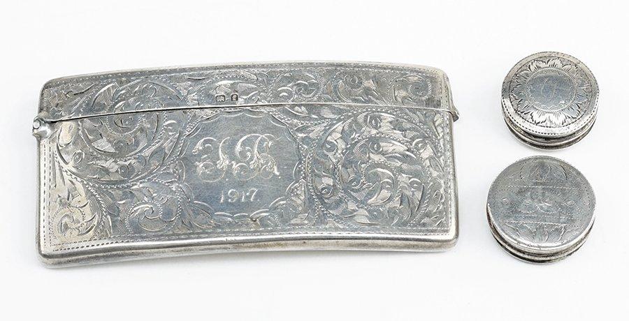 An English Silver Card Case.