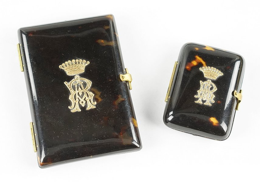 Two Tortoise Shell Cases.