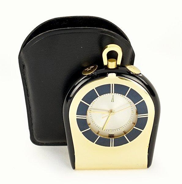 A Jaeger LeCoultre Travel Alarm Clock.