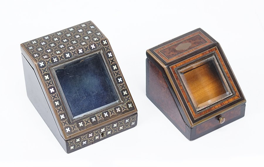 Two Victorian Watch Boxes.