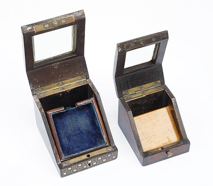Two Victorian Watch Boxes. - 2