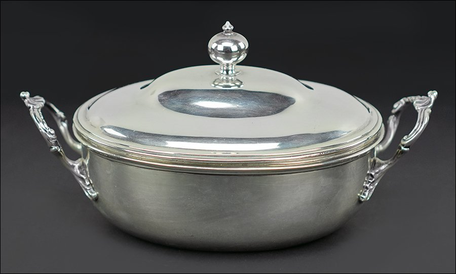 A George III Silver Covered Serving Dish.