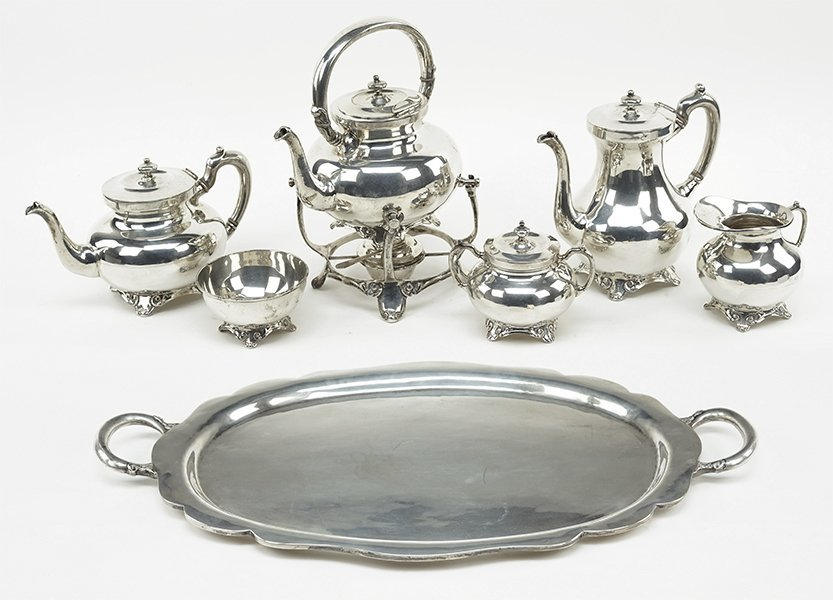 A Mexican Sterling SIlver Tea and Coffee Service.