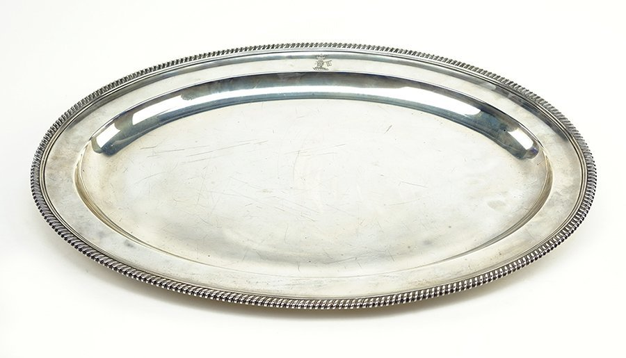 An 18th Century English Silver Meat Platter.