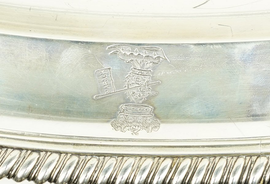 An 18th Century English Silver Meat Platter. - 2