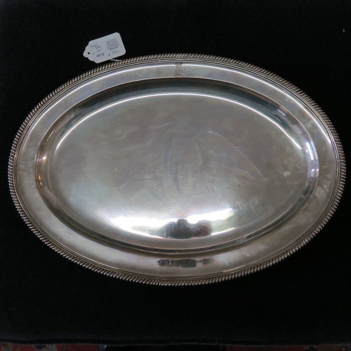 An 18th Century English Silver Meat Platter. - 4