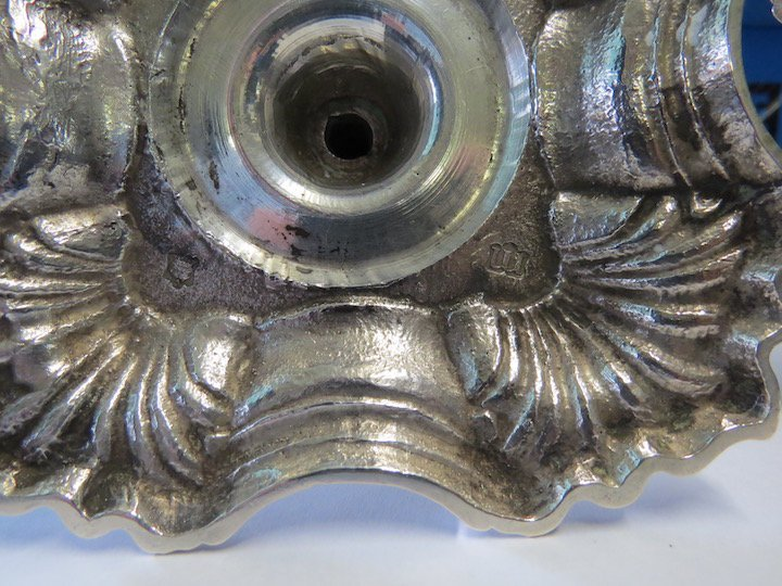 A Pair of George II Silver Candlesticks. - 3