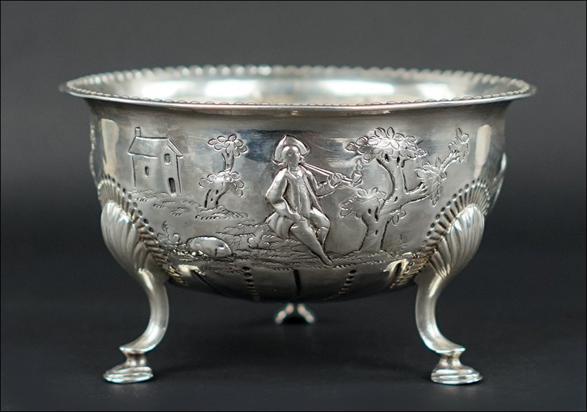 An Irish Silver Bowl.
