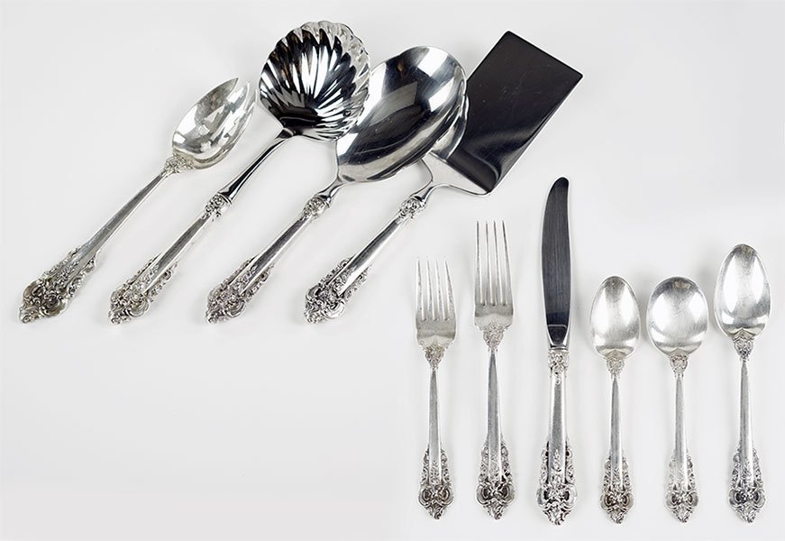A Wallace Sterling Silver Flatware Service.