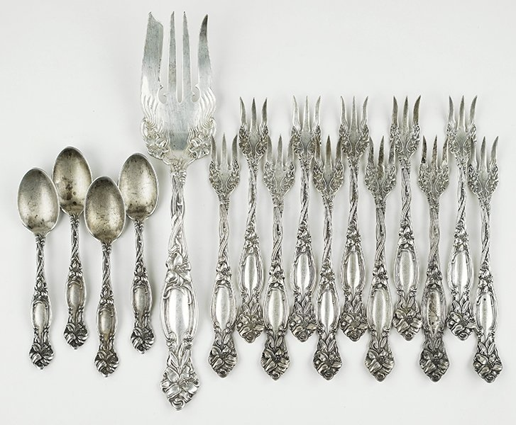 A Simpson Hall & Miller Partial Sterling Flatware