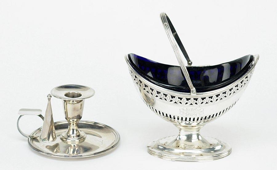 A George III Filigree Silver Basket.