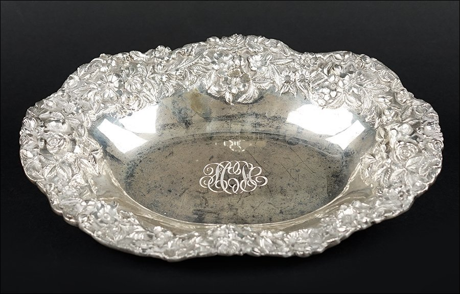 An American Sterling Silver Bread Dish.