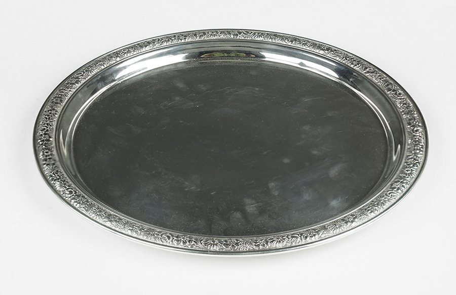 An Alvin Sterling Silver Round Tray.