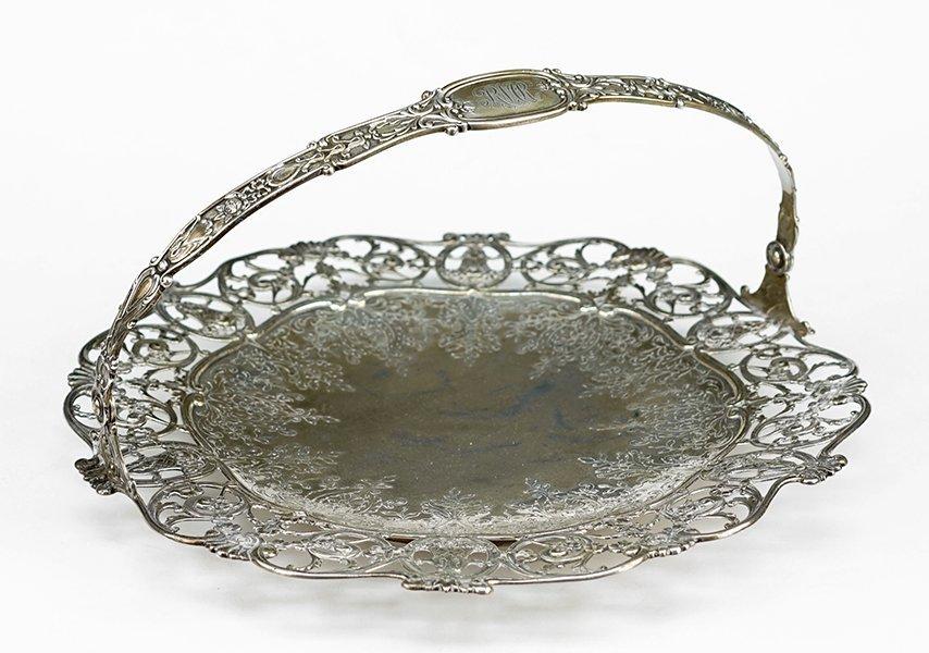 A Gorham Sterling Silver Handled Bread Basket.