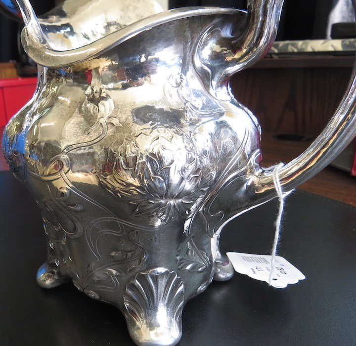 An American Sterling Silver Water Pitcher. - 4