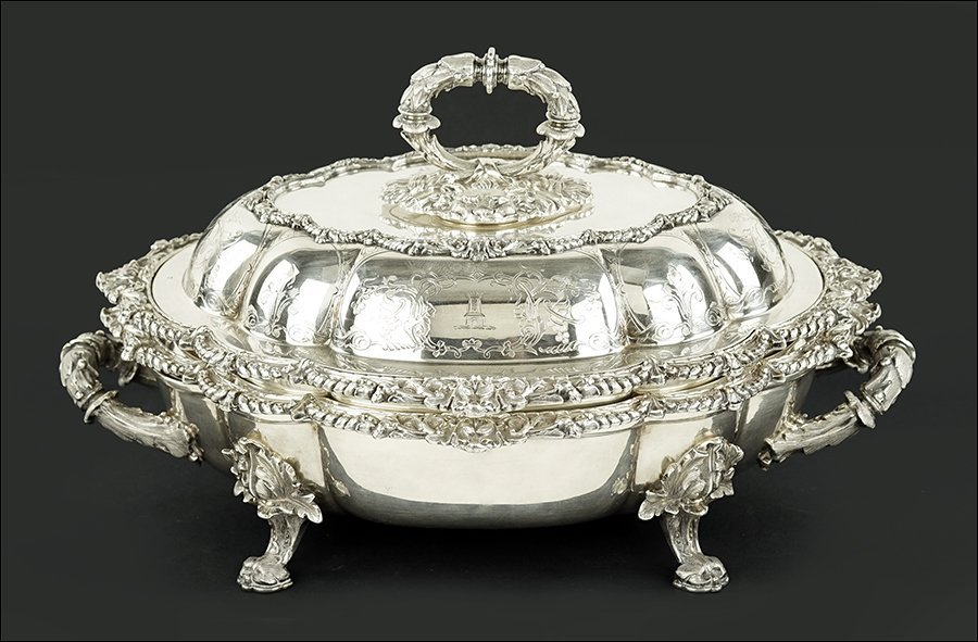 An English Silverplate Covered Serving Dish.