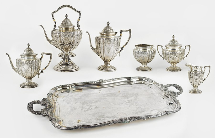 An American Sterling Silver Tea and Coffee Service.