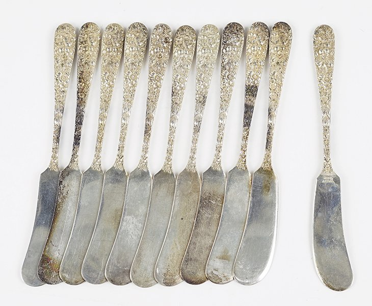 A Set of Eleven Stieff Sterling Silver Butter