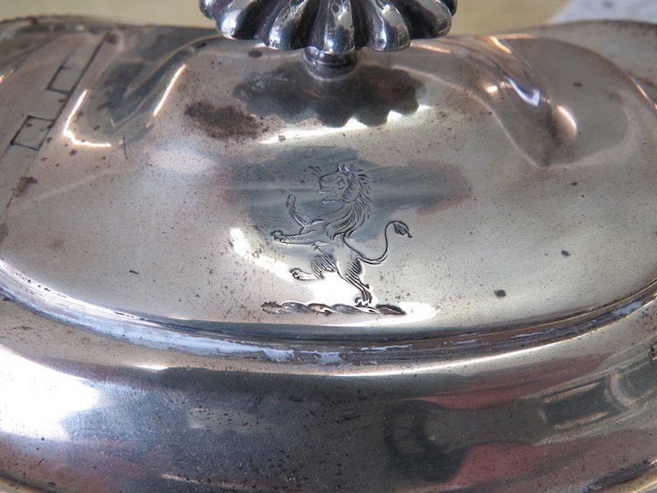 An English George IV Silver Teapot. - 4