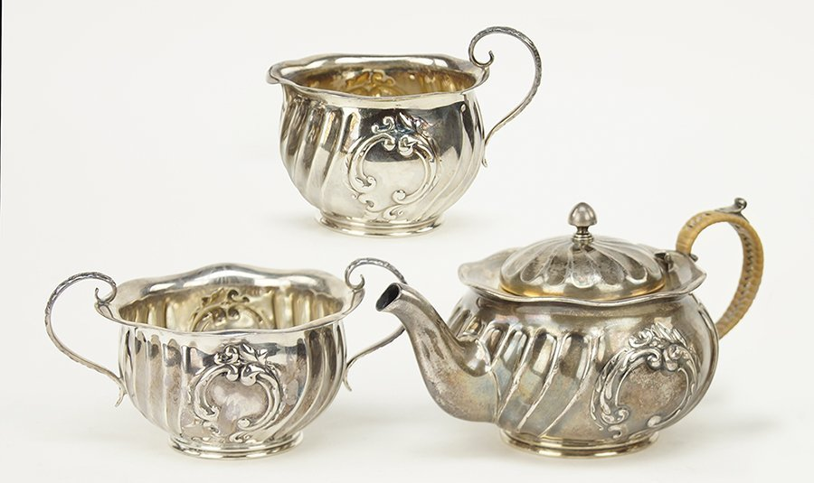 A Gorham Sterling Silver Individual Tea Service.