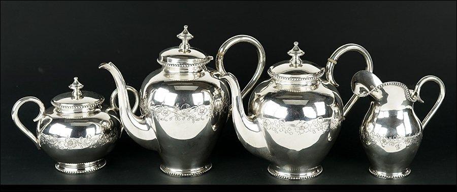 A Portuguese Sterling Silver Tea and Coffee Service.
