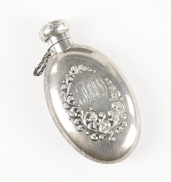 A Sterling Silver Flask.