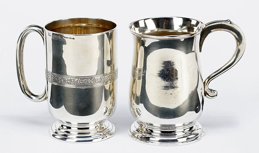 An English Mappin & Webb Silver Handled Cup.