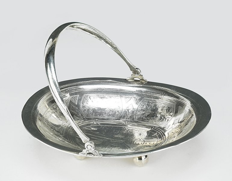 A 19th Century Russian Silver Basket.
