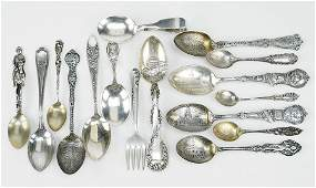 A Collection of Sterling Silver Spoons.