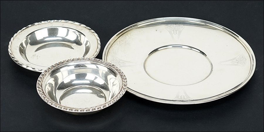 An American Sterling Silver Round Tray.