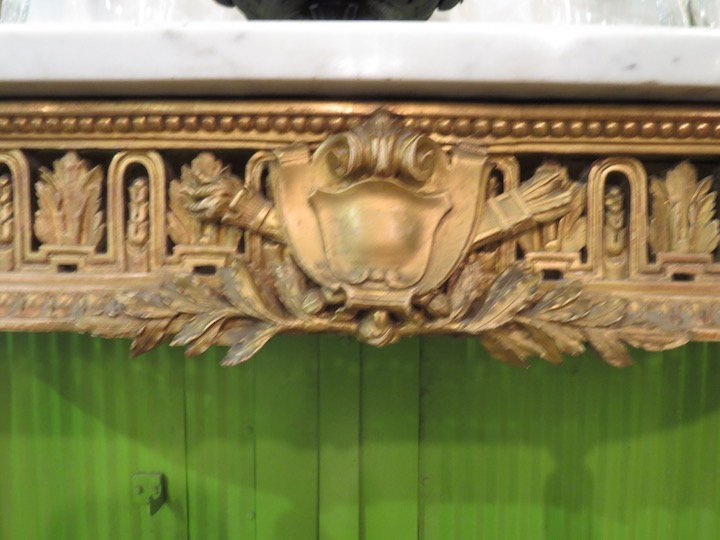 A French Gilt Wood Marble Top Console Table. - 2