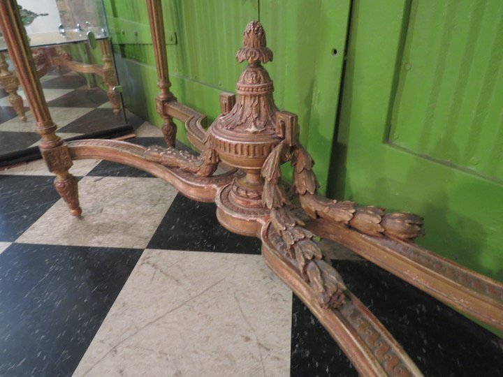 A French Gilt Wood Marble Top Console Table. - 5