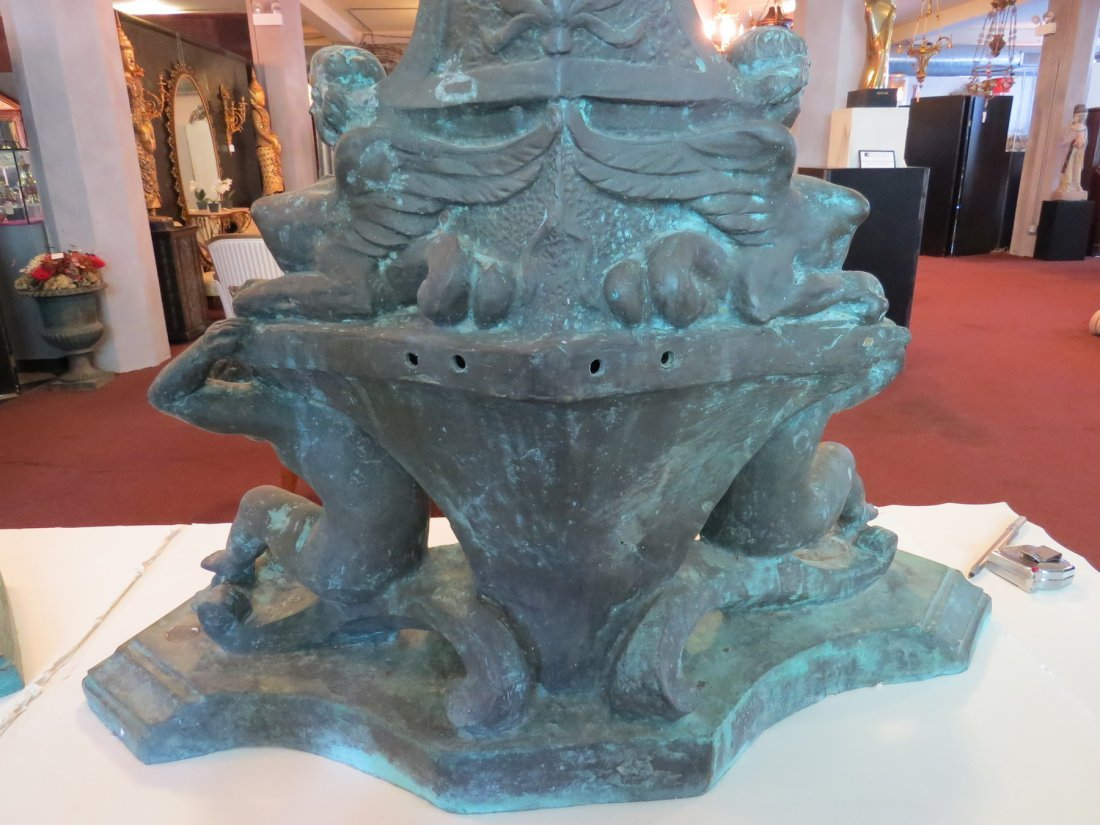 A Pair of Monumental Italian Baroque Style Bronze - 5