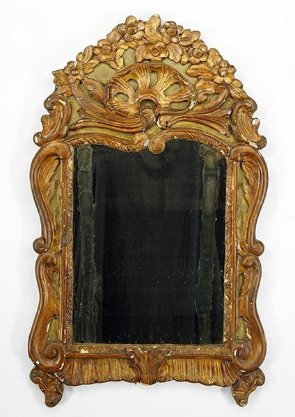 A French Gesso and Giltwood Mirror.