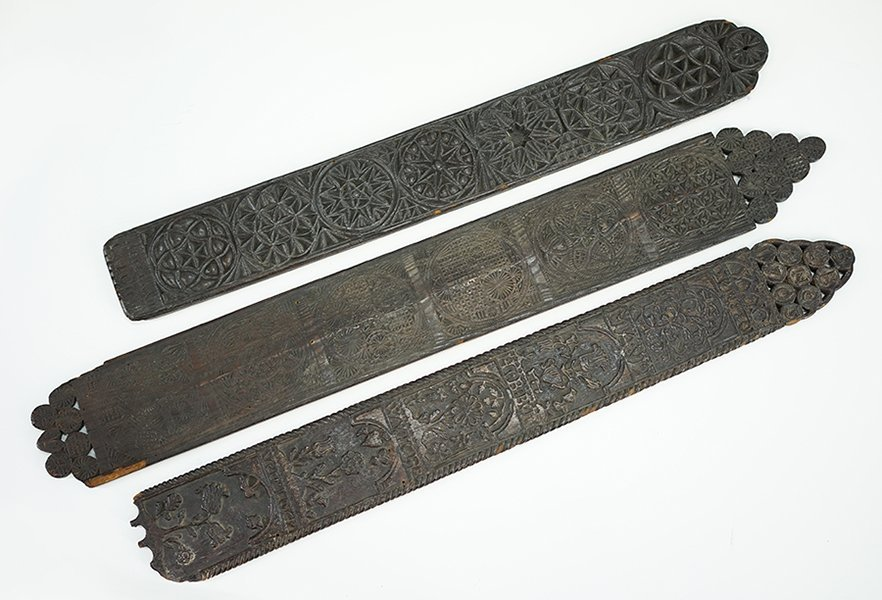 Two 18th Century Carved Wood Plaques.