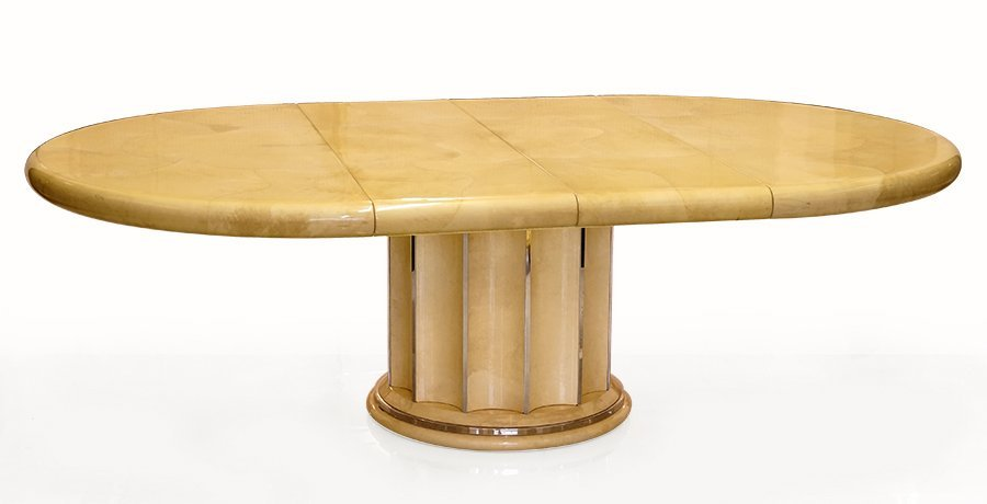 A Karl Springer Dining Table.
