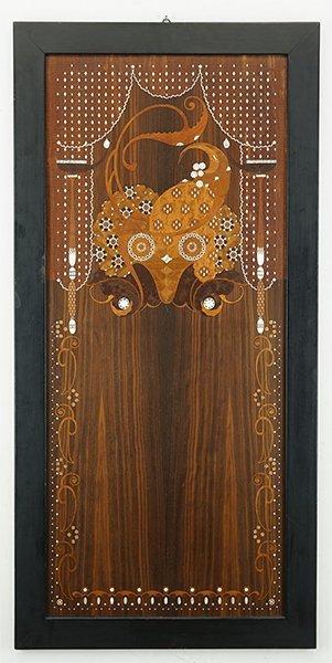 An Art Nouveau Mixed Inlay Panel.